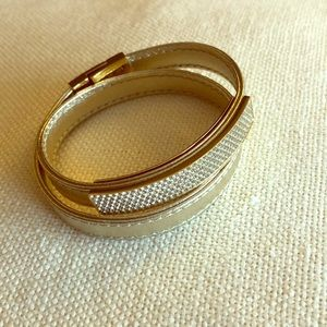 Swarovski Leather Wrap Bracelet